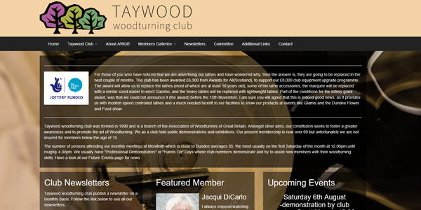 Taywood woodturning club